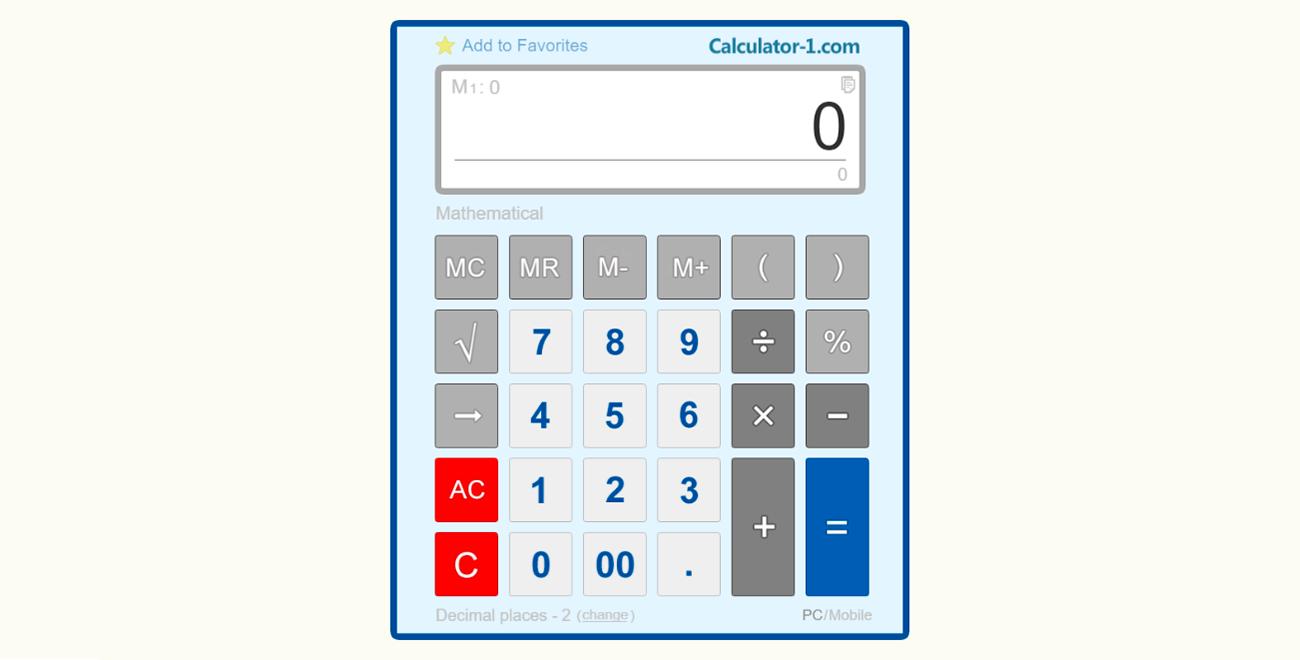 The Best Free Online Calculator